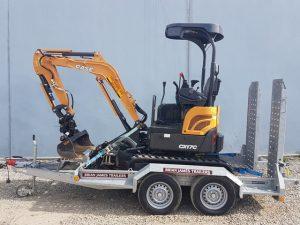 CASE CX17C Excavator for hire