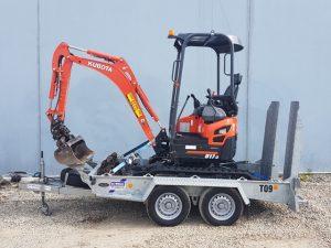 Kubota U17-3 excavator for hire
